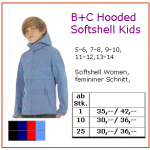 B+C Hooded Softshell Kids