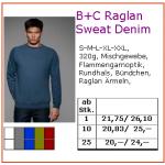 B+C Raglan Denim