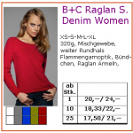 B+C Raglan Denim Women