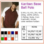 Kariban Base Ball Polo