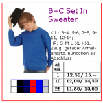 b+c set in sweater